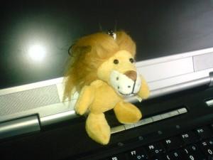 Así se ve el león completo.